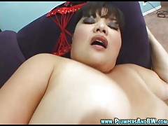 BBW Olivia opens her big thighs wide for a big dick and a mouthful of hot jizz!